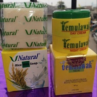 ❤temulawak_original❤ Original Original Temulawak Package (day and night cream and rice soap)
