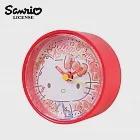 【日本正版授權】凱蒂貓 圓形鬧鐘/造型鐘/指針時鐘 Hello Kitty 三麗鷗