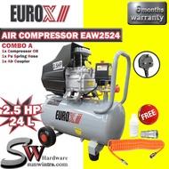 EUROPOWER EUROX 2.5HP / 24L AIR COMPRESSOR F.O.C PU RECOIL HOSE EAW2524/EAW 2524