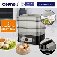 Cornell 3 Tier Electric Food Steamer 10L / 25L Capacity (1 Year Warranty)