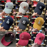 MLB 燈芯絨 棒球帽 秋冬 刺繡LOGO NY帽 LA帽 NY帽 洋基帽 道奇帽 老帽 鴨舌帽 可調式
