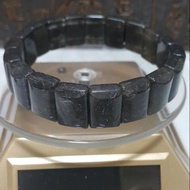 天然水晶 黑銀鈦手排17咪