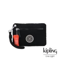 Kipling 個性炭石黑簡約手提拉鍊零錢包-HALASI