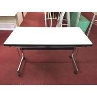 非凡二手家具 120cm 不鏽鋼腳辦公桌