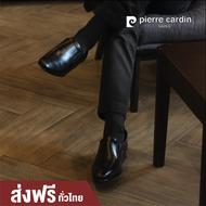 รองเท้าแฟชั่น pierre cardin shoes  ปิแอร์ การ์แดง รุ่น 80TD118 รองเท้าคัชชูผู้ชาย หนังแท้ แบรนด์ดัง จากฝรั่งเศส COLOR BLACK