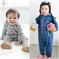 【baby童衣】任選 嬰兒連身衣 長袖兩色拉鍊星星爬服 50484(共2色)