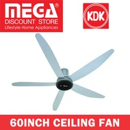 【Apply Qoo10 Cart Coupon】KDK T60AW 60INCH CEILING FAN / DC MOTOR / LOCAL WARRANTY