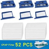 FMX 52Pcs Pollen Filter Foam Reusable forRespironics-Dreamstation CPAP/BiPAP Machine FVQ