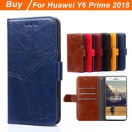 Wallet Huawei Y6 Prime 2018 Case Cover Flip Leather Huawei Y6 Prime 2018 Case