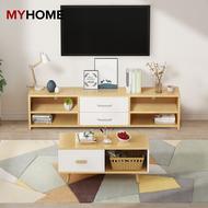 MYHOME DESIGN: ชั้นวางทีวี TV Rack 4.9ft (L:149.8cm) Wooden TV Cabinet / TV Console / TV Rack sijian
