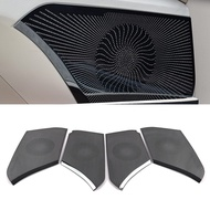 For Toyota Camry XV70 2017-2020 Stainless Car Door Panel Loudspeaker Pad Speaker Cover Trim Frame Sticker Moulding Accessories