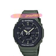G-SHOCK 經典型號GA-2100SU八角的錶殼設計,全新街頭軍事綠色錶殼和錶帶GA-2100SU-3A