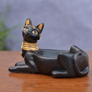 Cigarette Ashtray Ancient Egyptian Bastet Cat Goddess Statue,Ash Holder for Smokers,Tabletop Smoking Ash Tray Home Office Bar Decor
