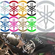 2 PCS YAMAHA Laser Reflective Motorcycle Sticker Locomotive Scratches Cover Decals / Size:20.5x11.5cm