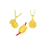 CHOW TAI FOOK 999 Pure Gold 'Auspicious' Pendants and Charms