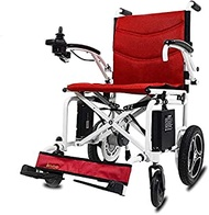 LUCK Ultra-light folding electric wheelchair elderly people with disabilities intelligent automatic four-wheeled scooters (Color : E)