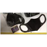 台灣製 現貨 兒童/成人3D立體寬耳口罩-時尚黑 不織布 拋棄式 一次性口罩*50入/盒-86 #台灣口罩館