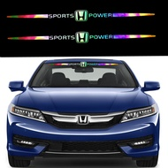 Car Sticker Honda Laser Reflective Auto Parts Stickers Motors Car Front Windshield Side Window Decal Stickers for City Fit Accord Odyssey CRV