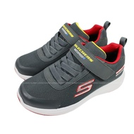 (BZ) SKECHERS 男童鞋 DYNAMIC TREAD 防水鞋 運動鞋 魔鬼氈403661LCHAR灰紅【陽光樂活】