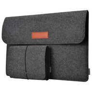 "Taffware Sleeve Case Laptop Macbook with Pouch Tas Laptop Macbook Pouch Mouse Apple 15"" - Abu"