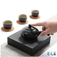 陶瓷功夫茶具禪風黑側把壺黑陶紫砂茶壺黑釉小茶壺功夫茶壺
