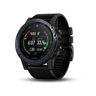 """Garmin Descent Mk1, Watch-Sized Dive Computer with Surface GPS, Includes Fitness Features, Gray Sapphire with Black Band, 1.2"""""""