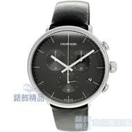 【錶飾精品】CK 手錶 K8M271C1 CALIVN KLEIN 巔峰系列 三眼計時 皮帶 男錶