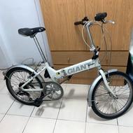 捷安特 FD806 折疊腳踏車 摺疊腳踏車 小折 白色