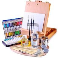 油畫顏料 馬利牌油畫顏料套裝初學者專用12色18色24色油畫工具套裝油畫框畫 小宅女