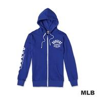 MLB-洛杉磯道奇隊連帽繡印花厚外套-藍色(男)