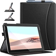 Dadanism Surface Go 2 Case with Flexible Hand Strap & Card Slots, [Multi-Angle Viewing Stand] Lightweight Shockproof Protective Cover Fit Surface Go 2 & Surface Go, Auto Sleep/Wake - Black