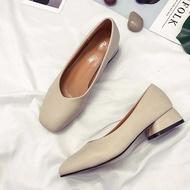 🍄💐รองเท้าแบนหัวมน รองเท้าผู้หญิงรองเท้ารองเท้าคัชชู รองเท้าแฟชั่นนำเข้าF076🍄💐