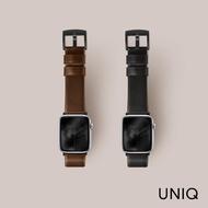 【UNIQ】Apple watch 42/44mm Mondain極簡薄型高級不銹鋼超柔軟真皮革錶帶(適用Apple Watch Series 4/5/6)
