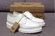 【jeanstar代購】Dr. Martens 1461 White Mono Shoe 馬汀 純白 3孔皮鞋 小白鞋