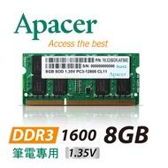 Apacer 8GB DDR3 1600 筆電用記憶體