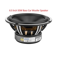 AOSHIKE 6.5 Inch Car Subwoofer Speaker Car Audio 4 Ohm 50W Bass Auto Speaker Aluminum Basin Woofer L