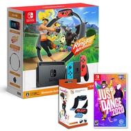 任天堂Switch健身環大冒險主機同捆組合+舞力全開 2020+手腕帶(主機收納包+玻璃保護貼+卡帶匣)