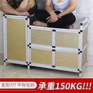 Home Storage & Organization Dapur Mudah Almari Meja Dapur Gas Kabinet Almari Mangkuk Loker Penyimpanan Kabinet Gas Dapur
