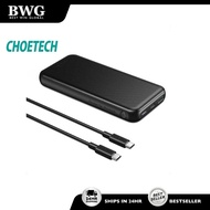 CHOETECH USB-C 10000 mAh 18W PD / QC 3.0 Fast Charging Power Bank multi protection For IPHONE SAMSUNG HUAWEI OPPO VIVO
