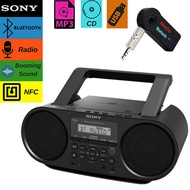 NEEGO Sony Bluetooth Portable Cd Player Stereo Sound System Bundle/Digital Tuner AM/FM Radio Cd Play