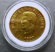 1993 Philippines Improved Flora and Fauna Series 50 Centavo Coin in Capsule Coin