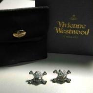 Vivienne Westwood 骷髏精鑽耳環