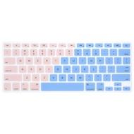 VDL粉藍漸層 MacBook Air 13 Pro 13 Macbook 12 防塵英文鍵盤膜 APPLE 防刮
