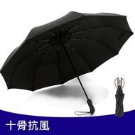 十骨抗強風自摺疊傘 自動傘 自動折疊傘 自動伸縮傘 自動開收 大傘面折傘 雨傘【DM383】◎123便利屋◎