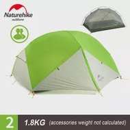 Naturehike 3 Season Mongar Campingเต็นท์ 20Dผ้าไนล่อนไนล่อนกันน้ำDouble Layerเต็นท์สำหรับ 2 คนBreathableตาข่าย