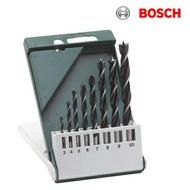 德國BOSCH 博世 8支木工鑽頭套裝 8支裝圓柄木工鑽頭組 木頭直柄鑽頭