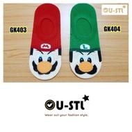 U-STL★韓國襪子★超級瑪莉歐兄弟 電玩人物隱形襪
