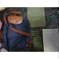 Longchamp 藍色後背包正品