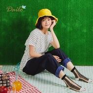 【Dailo】點點印花女短袖-襯衫(三色/版型適中)