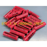 現貨  18650充電鋰電池 3.7V 手電筒專用 9800mAh 進口電芯 小風扇電池
